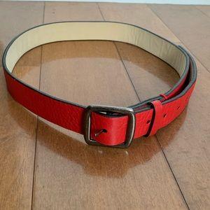 "Marc Jacobs ""Hardcore"" Leather Embossed Belt"